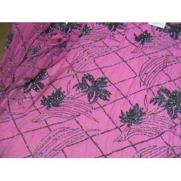 SCAMPOLO RICAMO 33 FUXIA CM.112X300