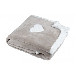 PLAID COCOON CUORE BEIGE