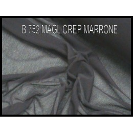 B752 MAGL.CREPE STR. MARRONE
