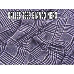 3859 GALLES IN GEORGETTE BIANCO/NERO